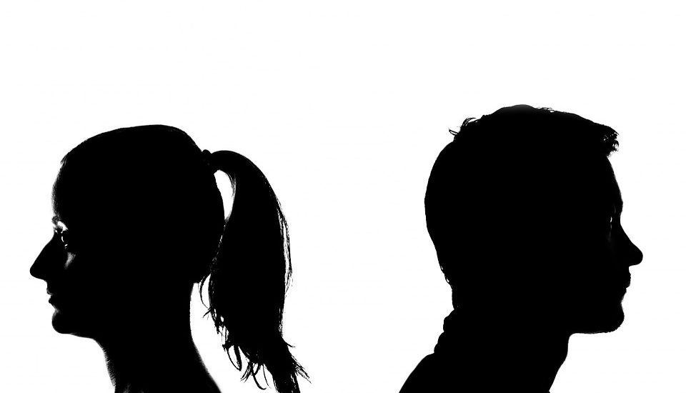 break up silhouette of man and woman